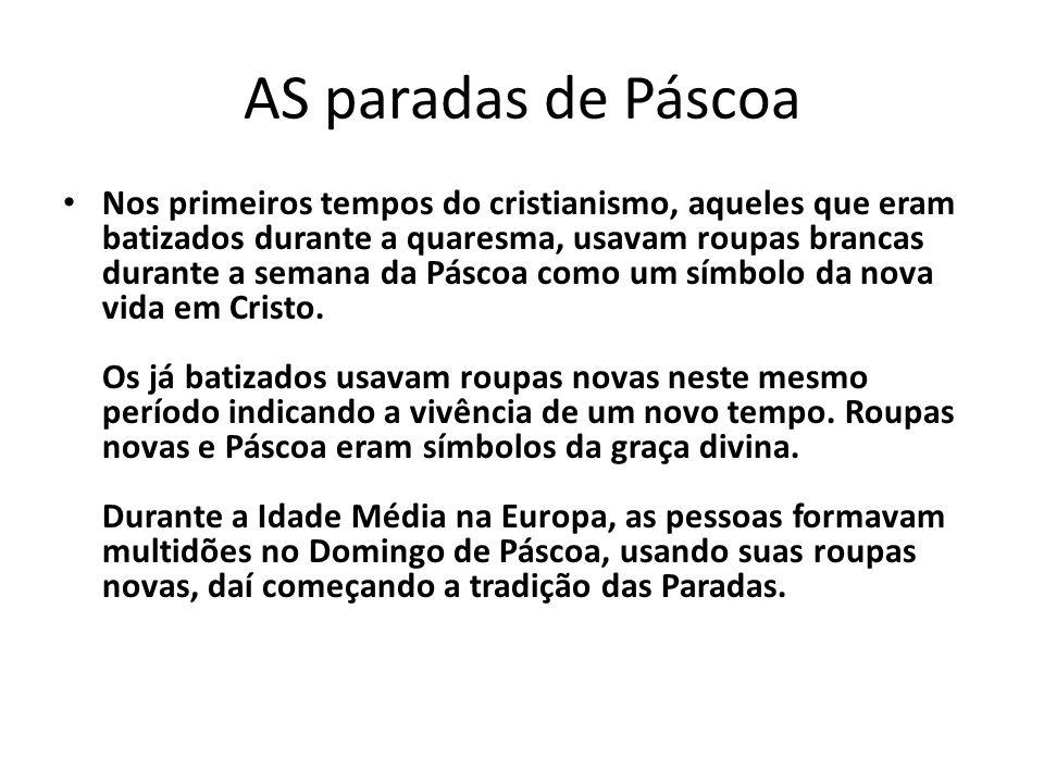 AS paradas de Páscoa