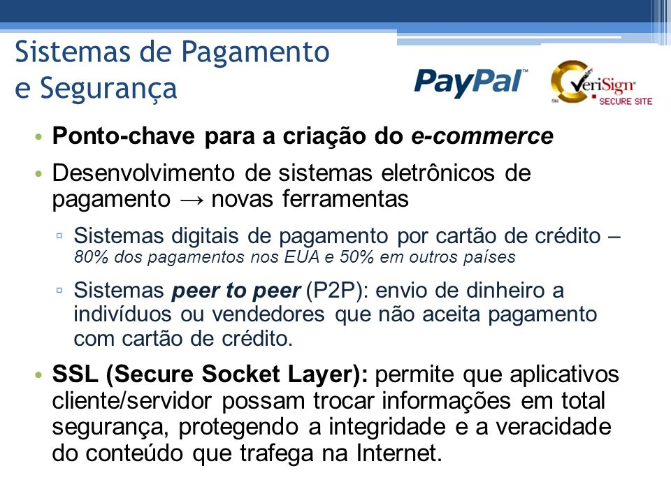 Sistemas de Pagamento e Segurança