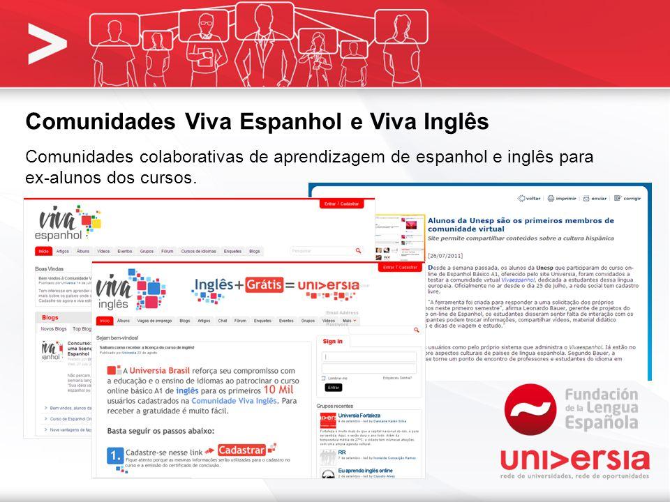 Comunidades Viva Espanhol e Viva Inglês