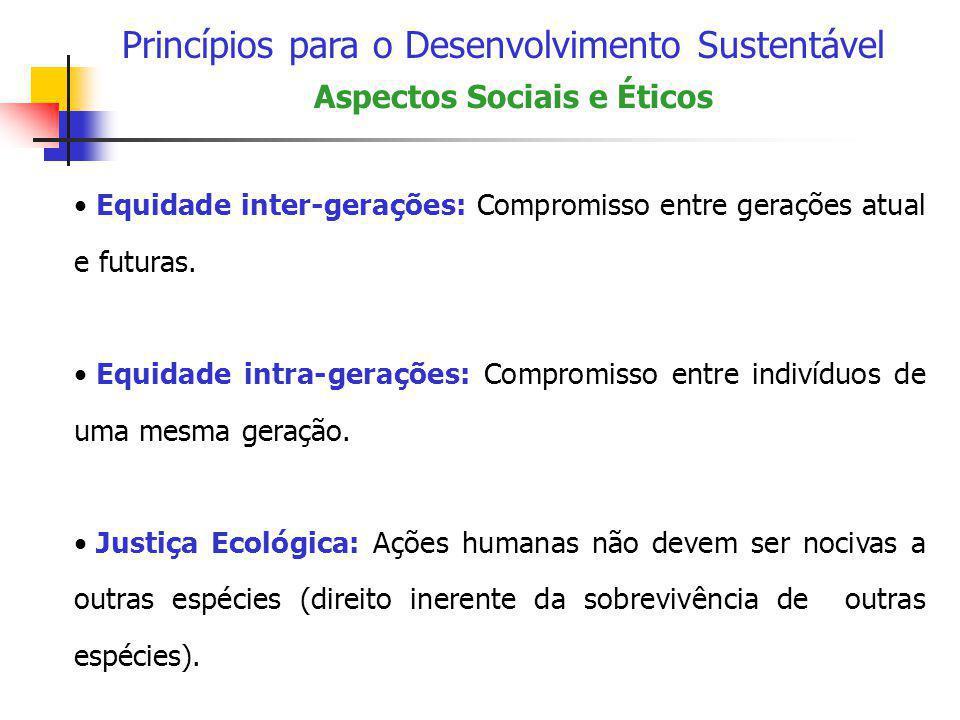 Princípios para o Desenvolvimento Sustentável