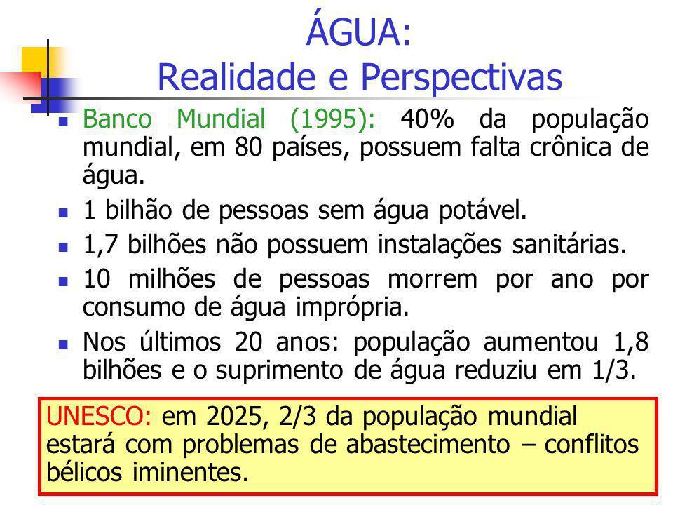 ÁGUA: Realidade e Perspectivas