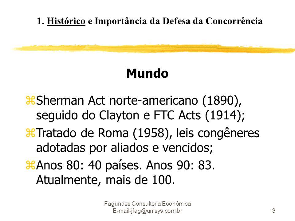 1. Histórico e Importância da Defesa da Concorrência