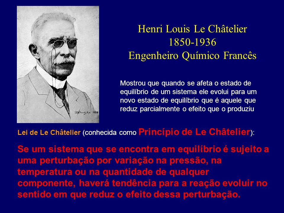 Henri Louis Le Châtelier 1850-1936 Engenheiro Químico Francês