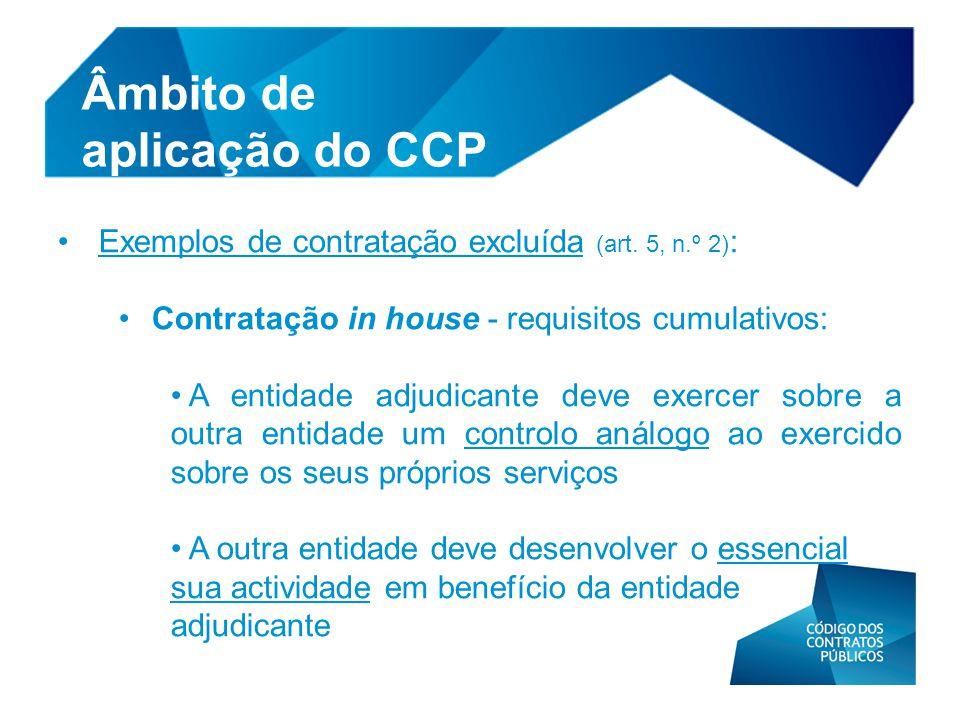 Âmbito de aplicação do CCP
