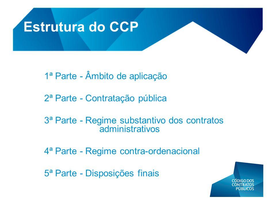 Estrutura do CCP 1ª Parte - Âmbito de aplicação