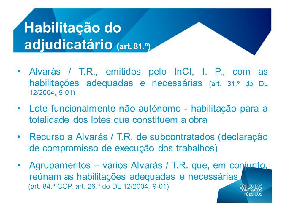 Habilitação do adjudicatário (art. 81.º)