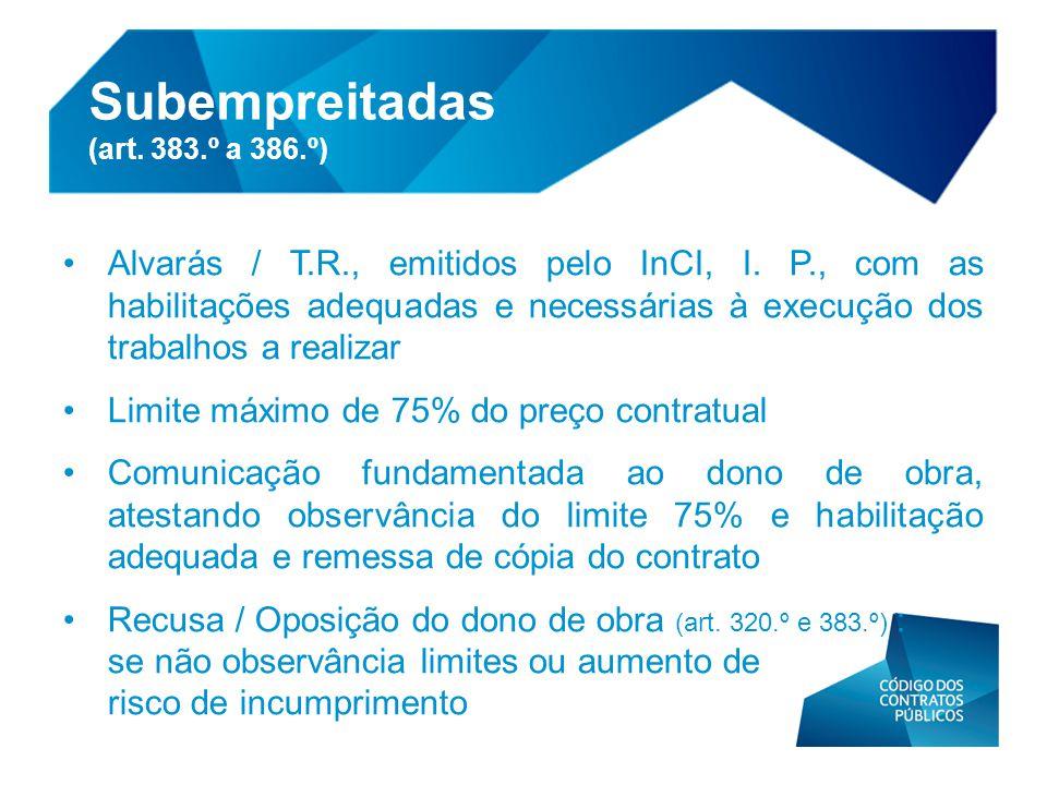 Subempreitadas (art. 383.º a 386.º)
