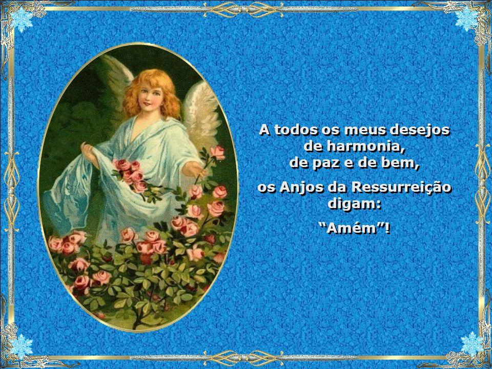A todos os meus desejos de harmonia, de paz e de bem,