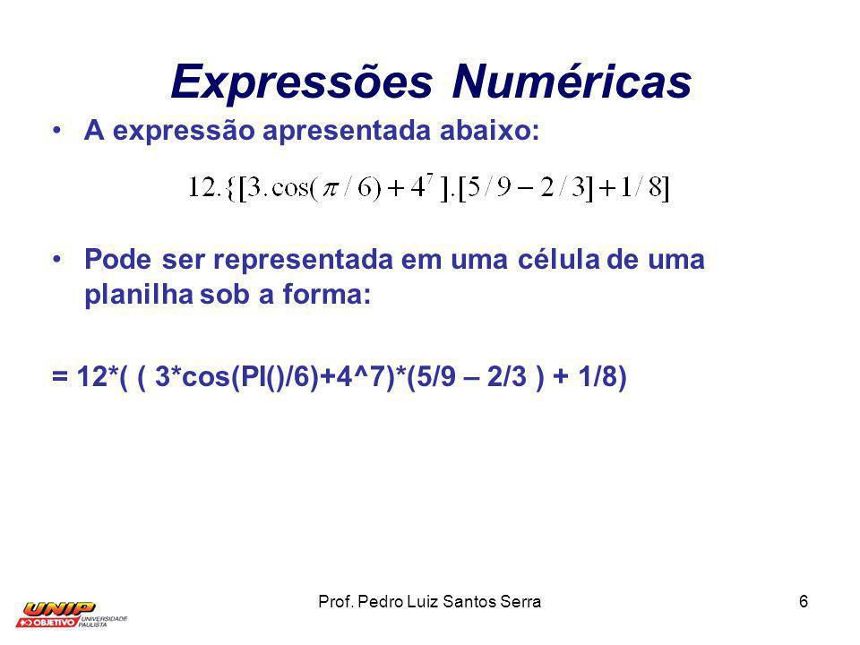 Prof. Pedro Luiz Santos Serra