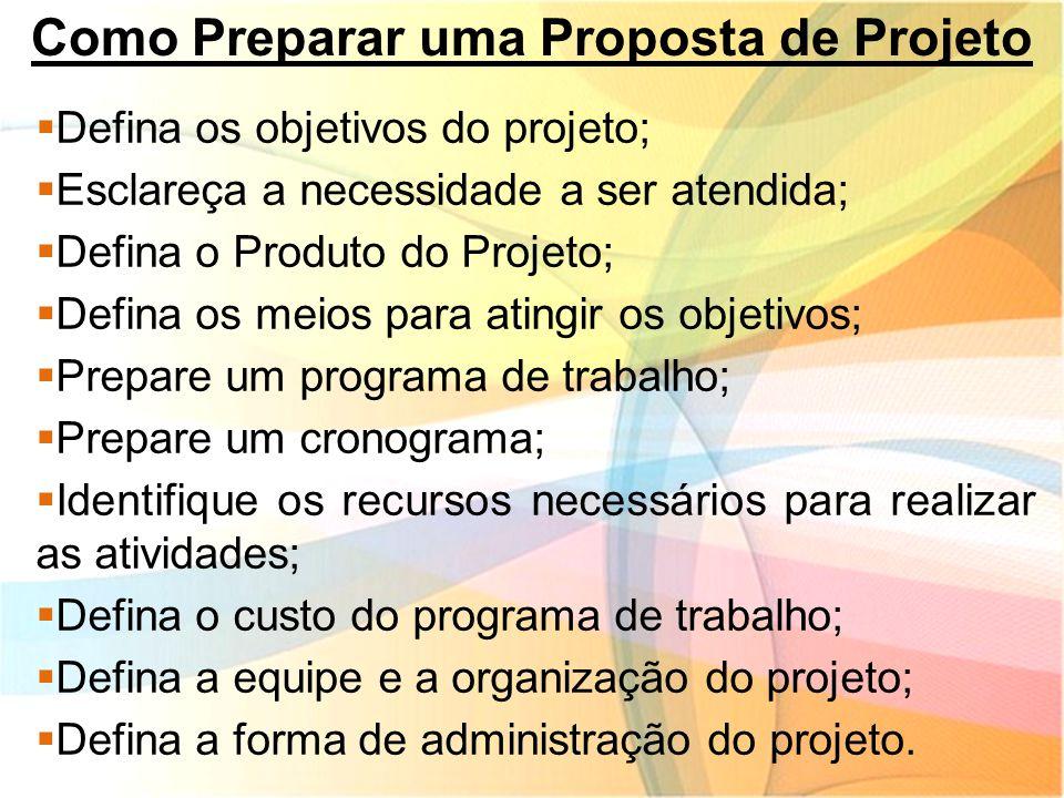 Como Preparar uma Proposta de Projeto