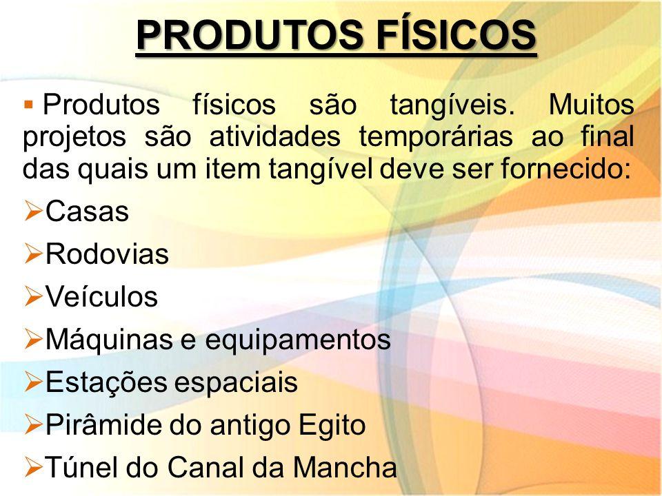 PRODUTOS FÍSICOS Casas Rodovias Veículos Máquinas e equipamentos