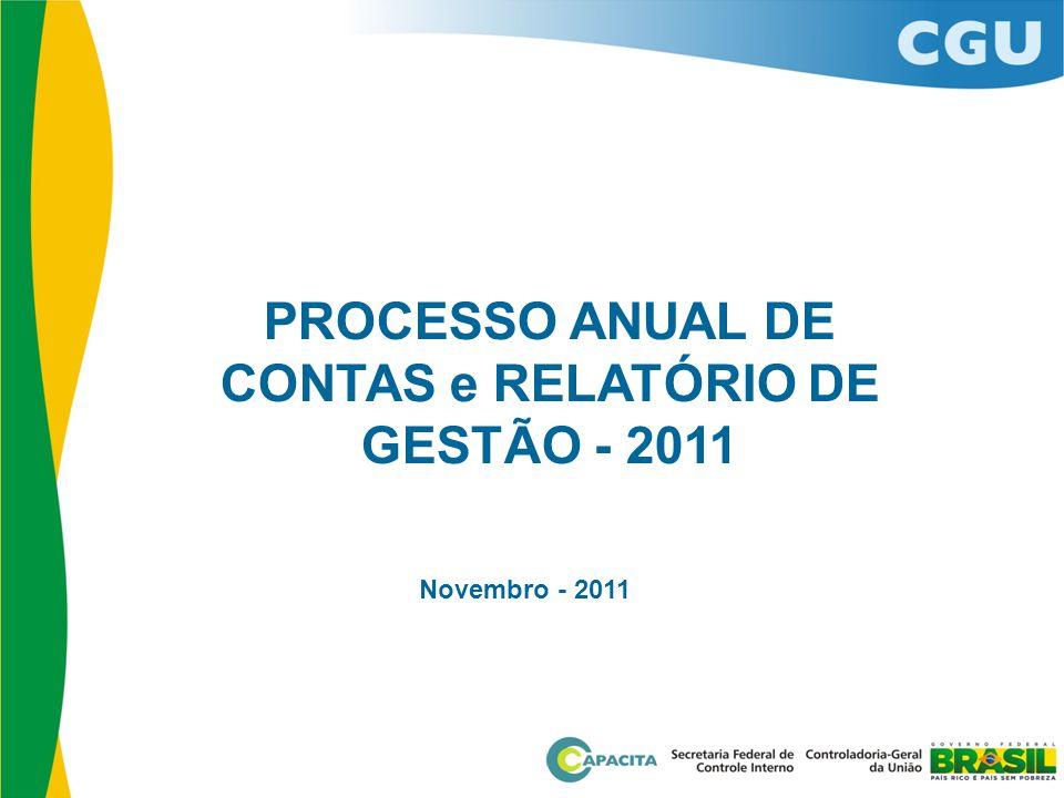 PROCESSO ANUAL DE CONTAS e RELATÓRIO DE GESTÃO - 2011