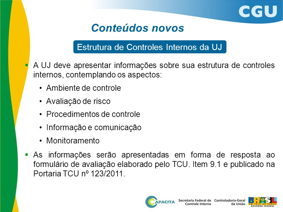 Estrutura de Controles Internos da UJ