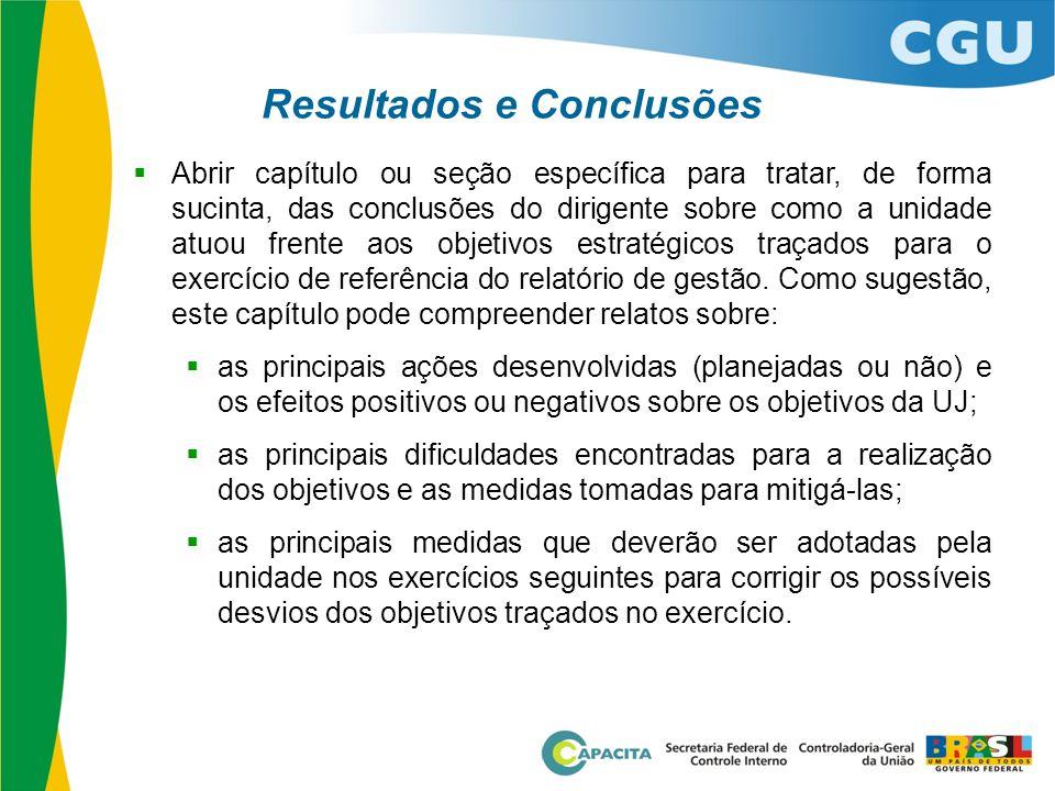 Resultados e Conclusões