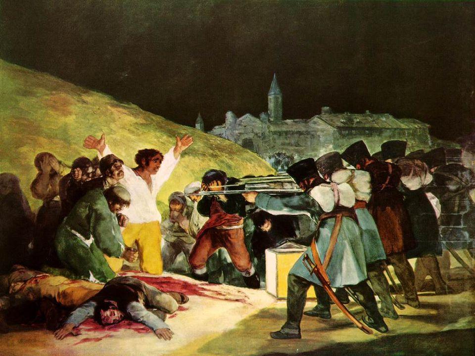 Francisco Goya, Fuzilamentos de 3 maio de 1808, pintado em 1814, Museu do Prado – Madrid.