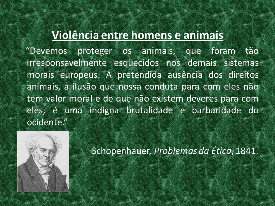 Violência entre homens e animais