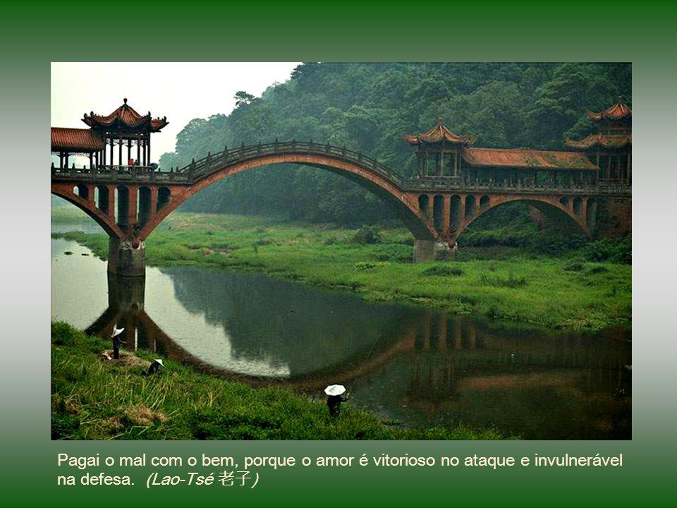Pagai o mal com o bem, porque o amor é vitorioso no ataque e invulnerável na defesa. (Lao-Tsé 老子)