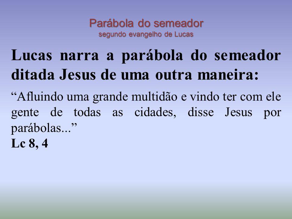 Parábola do semeador segundo evangelho de Lucas
