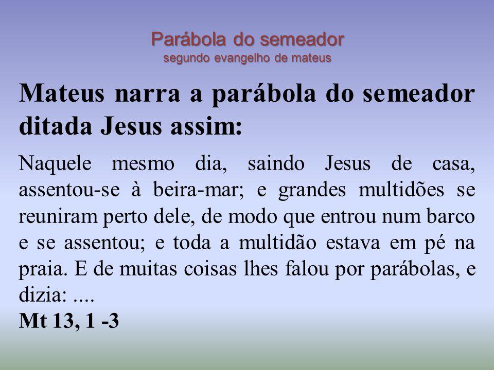 Parábola do semeador segundo evangelho de mateus