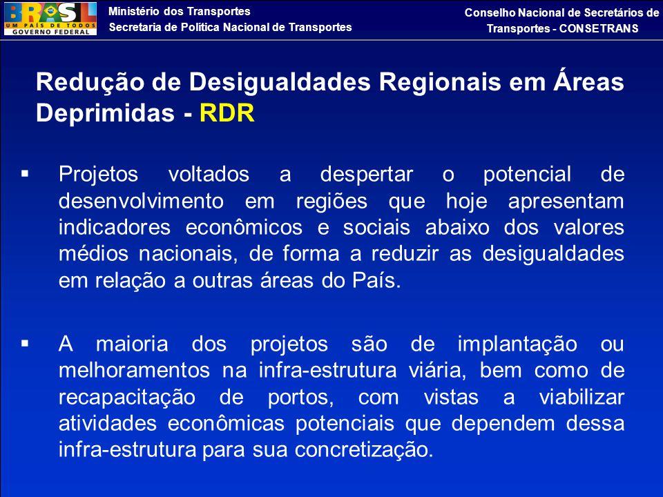 Redução de Desigualdades Regionais em Áreas Deprimidas - RDR