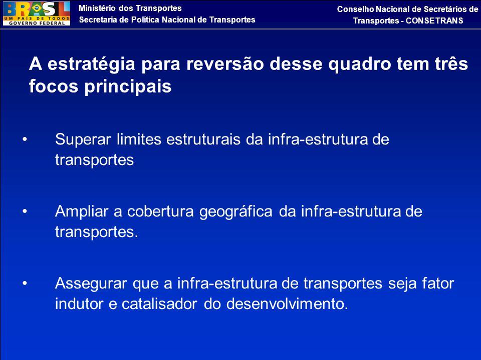A estratégia para reversão desse quadro tem três focos principais