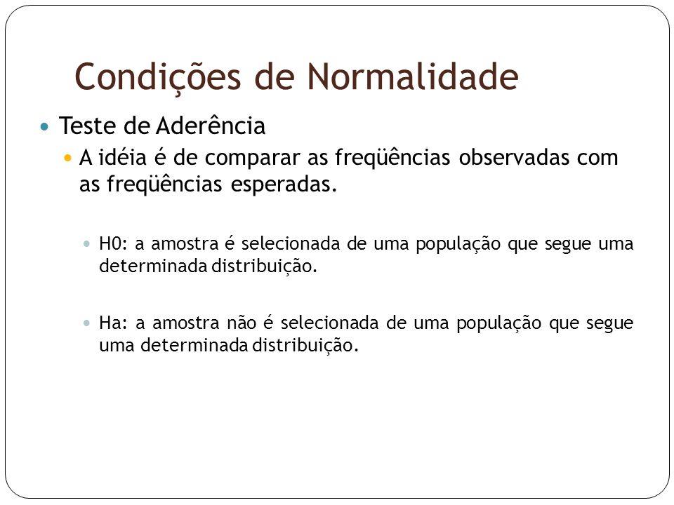 Condições de Normalidade