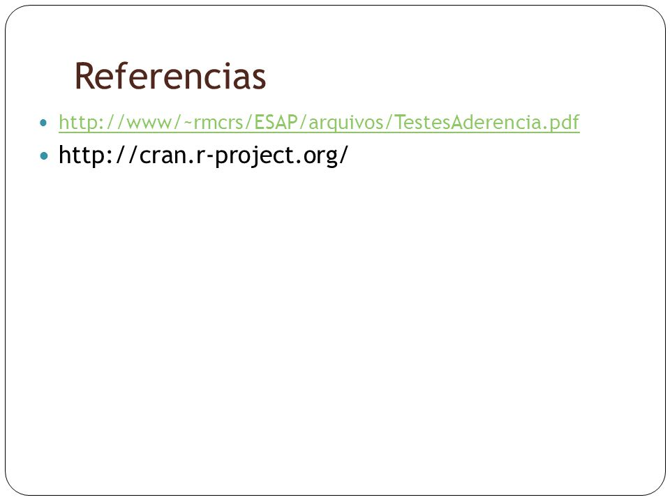 Referencias http://cran.r-project.org/