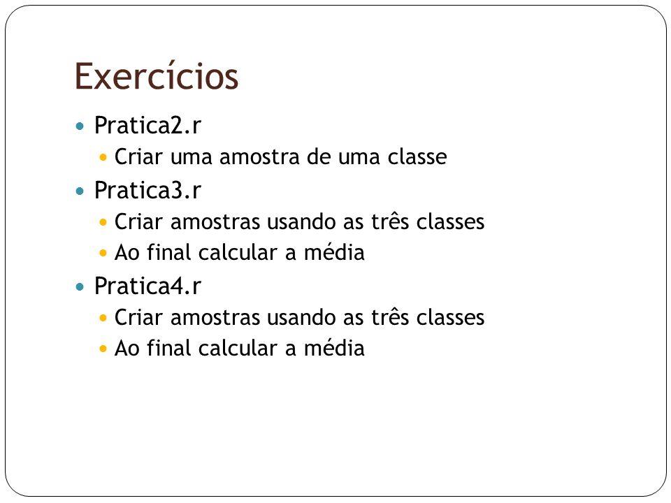Exercícios Pratica2.r Pratica3.r Pratica4.r