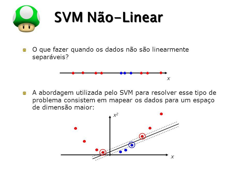 SVM Não-Linear O que fazer quando os dados não são linearmente separáveis