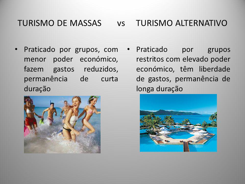 TURISMO DE MASSAS vs TURISMO ALTERNATIVO