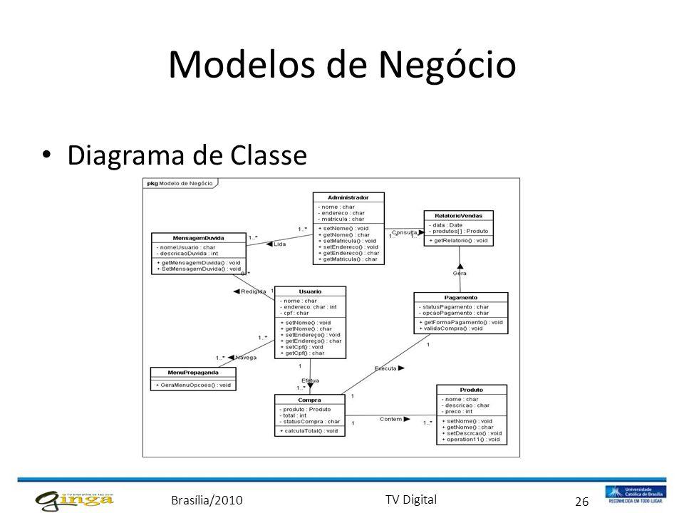 Modelos de Negócio Diagrama de Classe 26