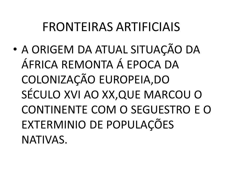 FRONTEIRAS ARTIFICIAIS