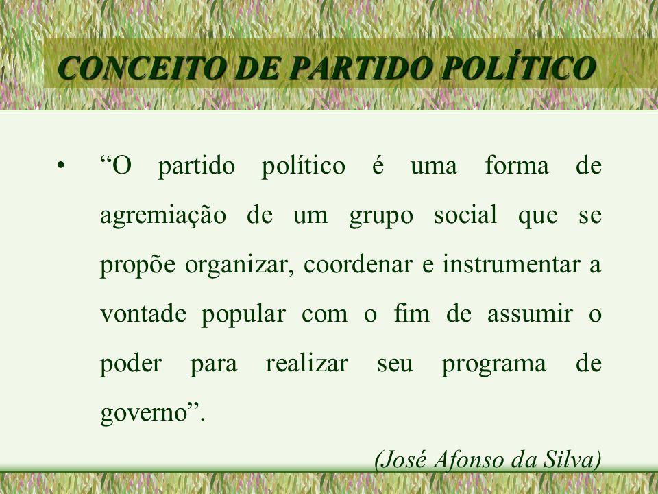 CONCEITO DE PARTIDO POLÍTICO