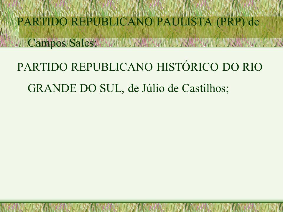 PARTIDO REPUBLICANO PAULISTA (PRP) de Campos Sales;