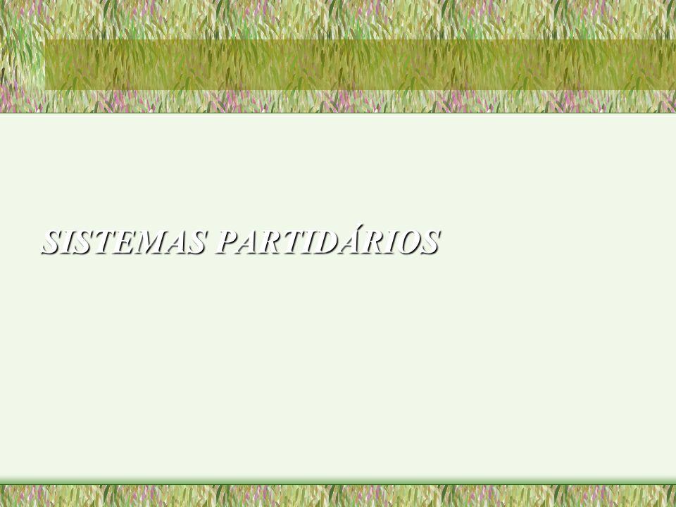 SISTEMAS PARTIDÁRIOS
