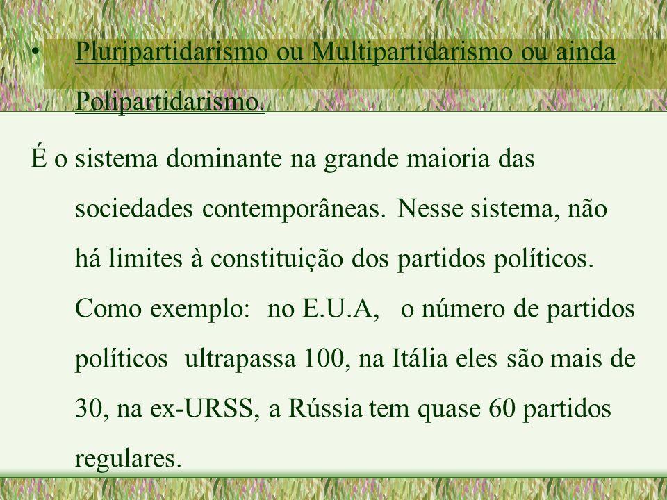 Pluripartidarismo ou Multipartidarismo ou ainda Polipartidarismo.