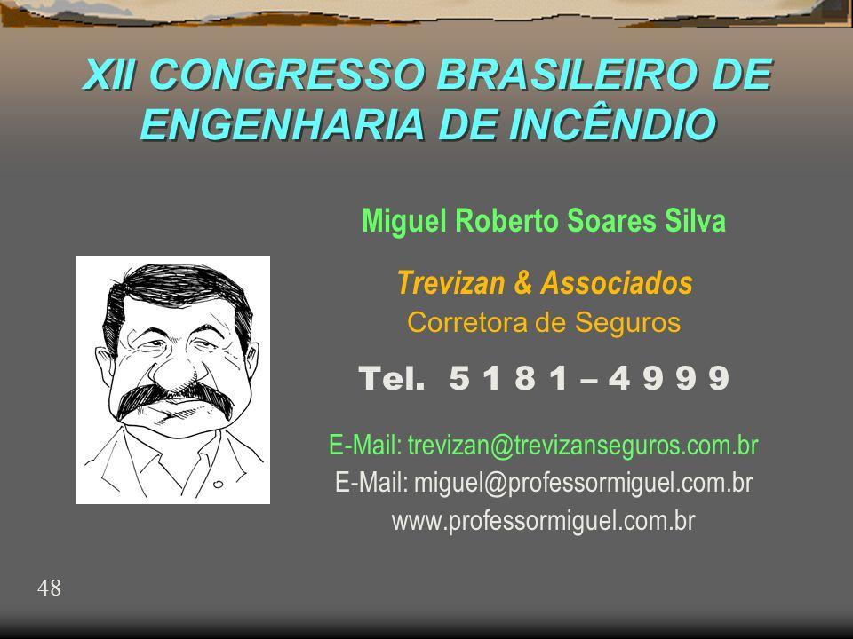 XII CONGRESSO BRASILEIRO DE ENGENHARIA DE INCÊNDIO