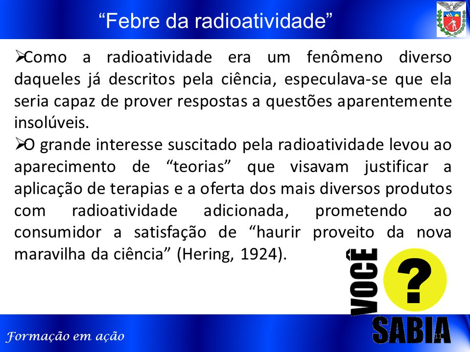 Febre da radioatividade