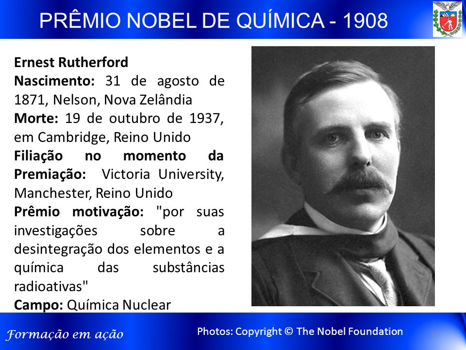 PRÊMIO NOBEL DE QUÍMICA - 1908