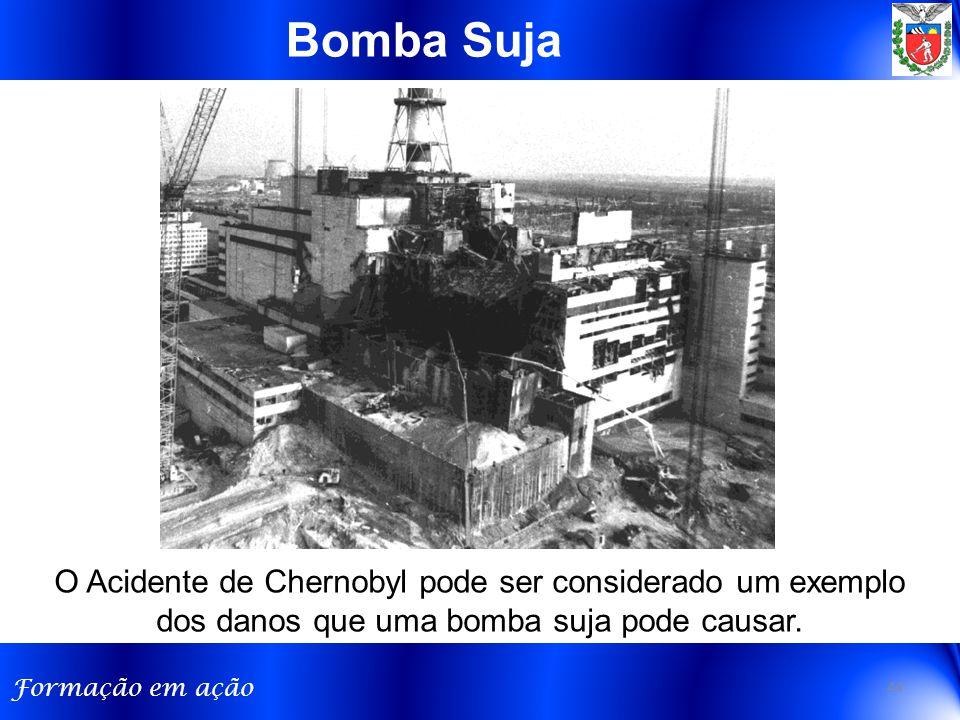 Bomba Suja O Acidente de Chernobyl pode ser considerado um exemplo dos danos que uma bomba suja pode causar.