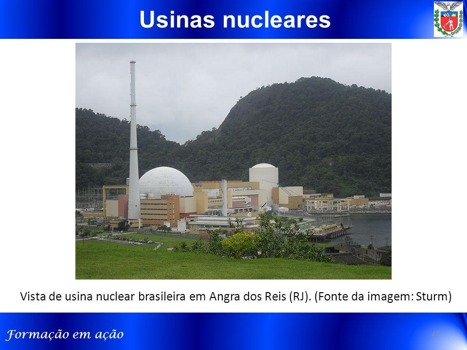 Usinas nucleares Vista de usina nuclear brasileira em Angra dos Reis (RJ). (Fonte da imagem: Sturm)