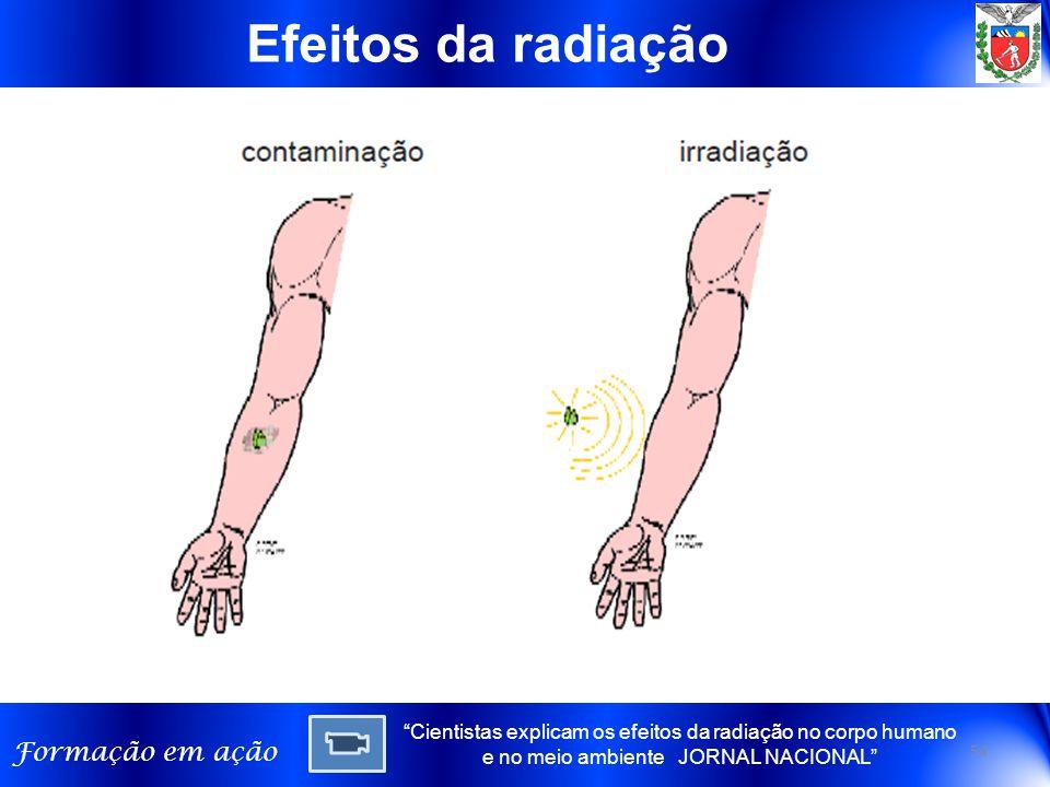 Efeitos da radiação Cientistas explicam os efeitos da radiação no corpo humano e no meio ambiente JORNAL NACIONAL