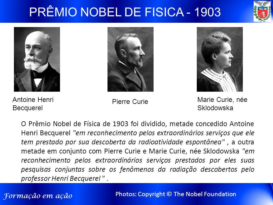 PRÊMIO NOBEL DE FISICA - 1903