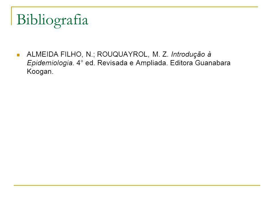 Bibliografia ALMEIDA FILHO, N.; ROUQUAYROL, M. Z.