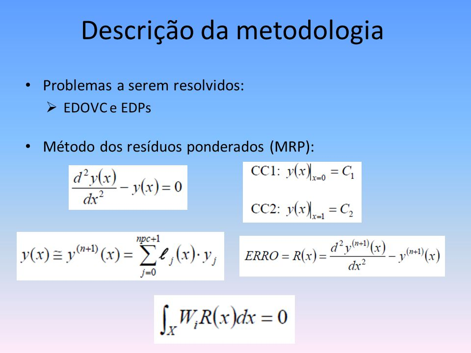 Descrição da metodologia