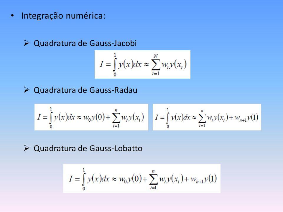 Integração numérica: Quadratura de Gauss-Jacobi