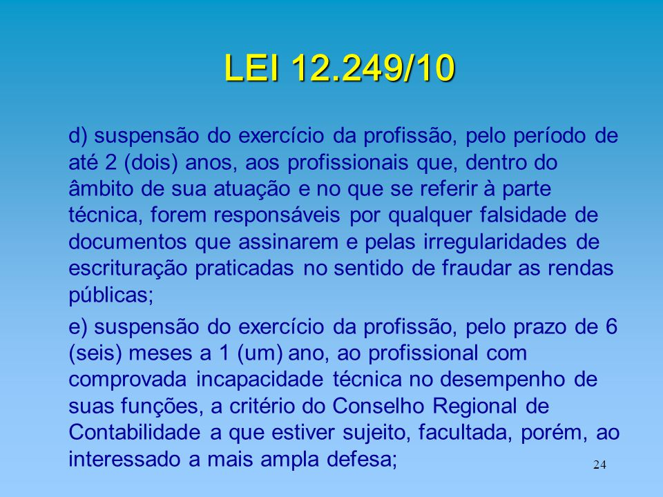 LEI 12.249/10