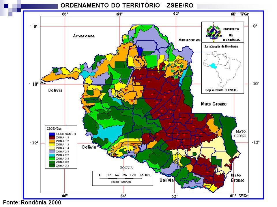 ORDENAMENTO DO TERRITÓRIO – ZSEE/RO