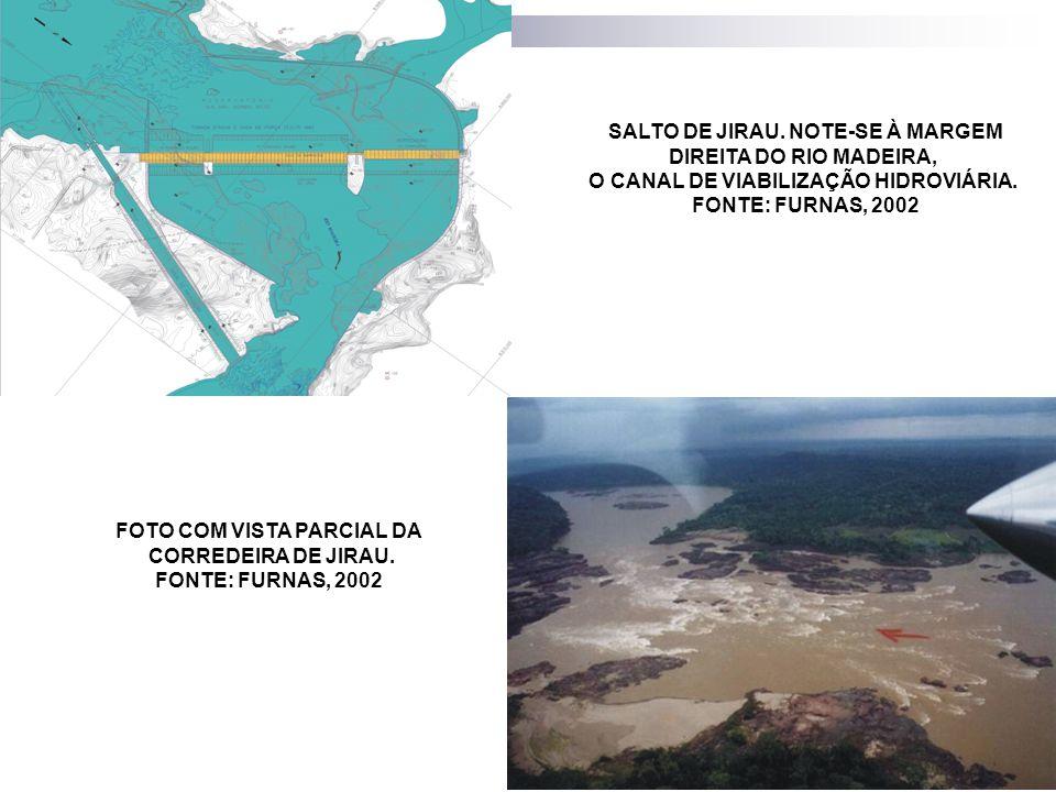 SALTO DE JIRAU. NOTE-SE À MARGEM DIREITA DO RIO MADEIRA,