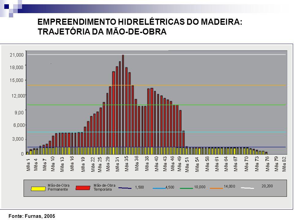 EMPREENDIMENTO HIDRELÉTRICAS DO MADEIRA: TRAJETÓRIA DA MÃO-DE-OBRA